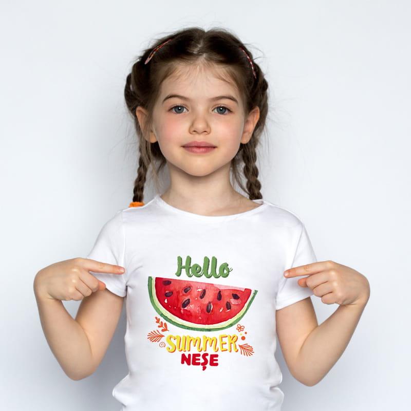 Yaza Merhaba Anne Kız Tişört Kombini