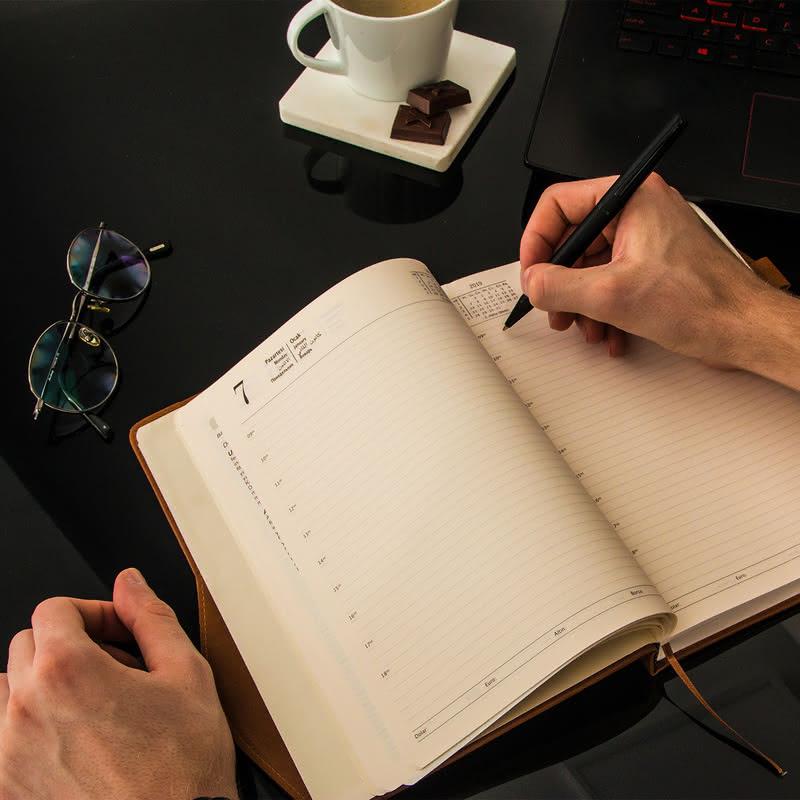 Yeni Yıl Ofis Hediyesi İsim Yazılı Ajanda