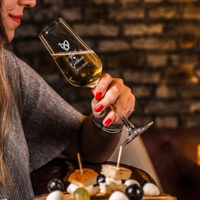 Yıl Dönümü Hatırası Şampanya Kadeh Seti