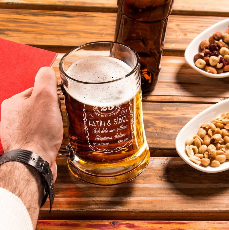 Yıl Dönümü Hediyesi Bira Bardağı