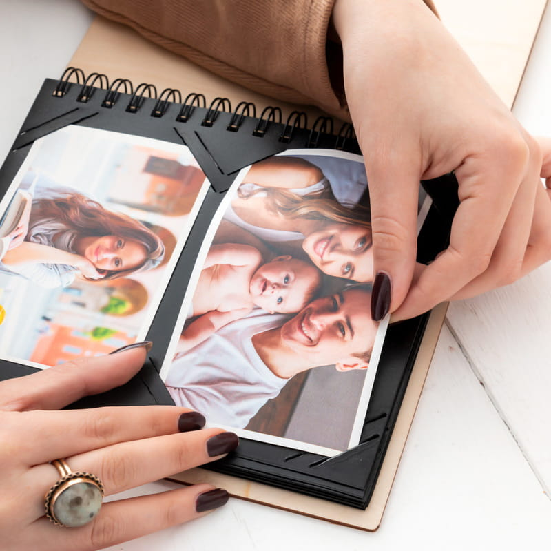 Ahşap Kapaklı Kişiye Özel Fotoğraf Albümü