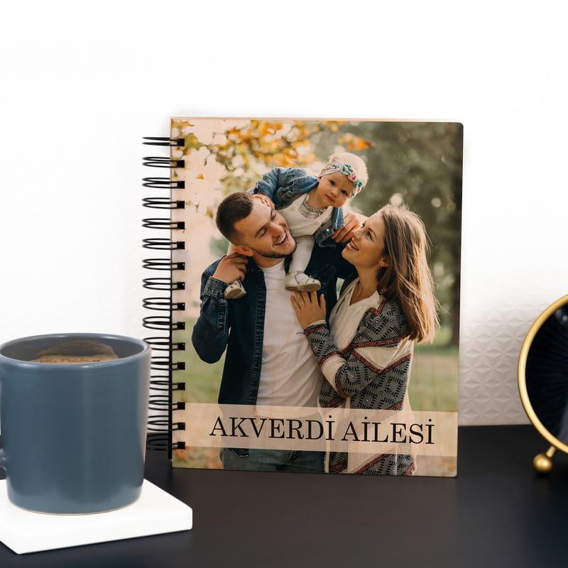 Aile İsmine Özel Fotoğraf Baskılı Ahşap Albüm
