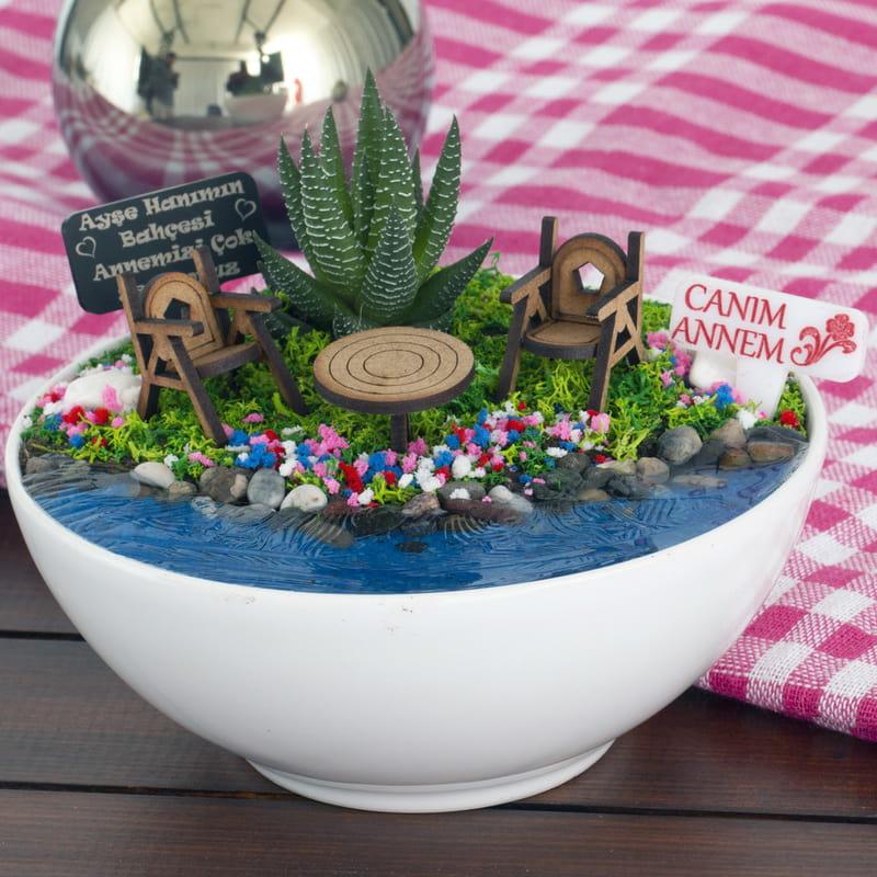 Anneye Hediye Canlı Minyatür Hobi Bahçesi