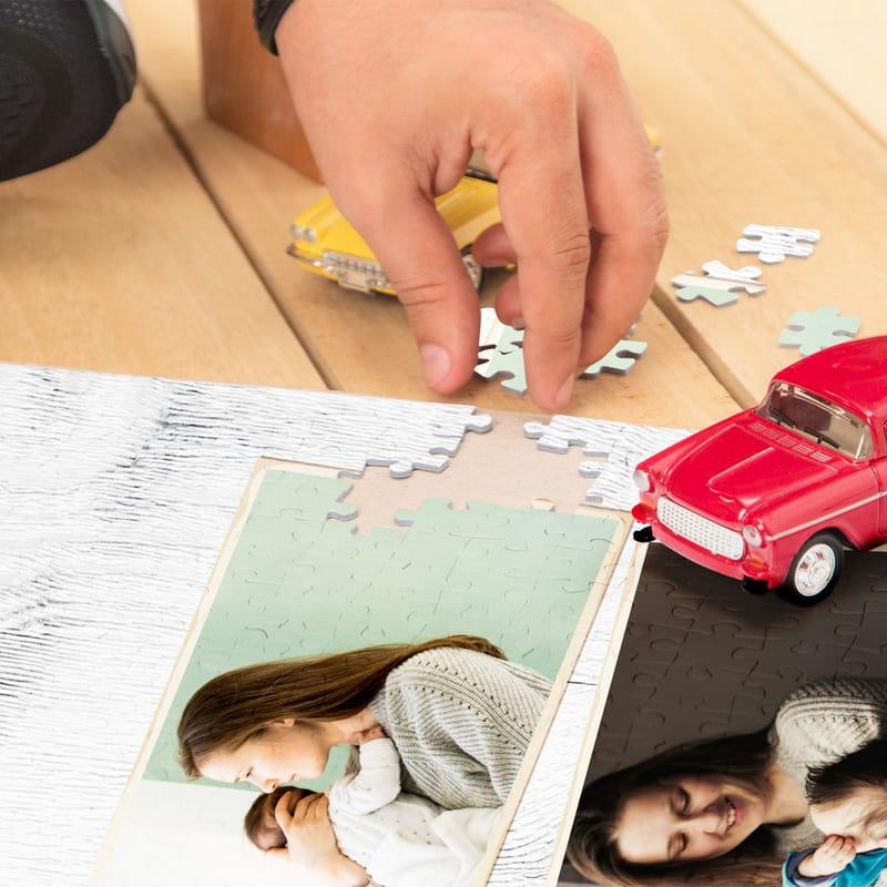 Anneye Hediye Kişiye Özel Kutulu 1000 Parça Puzzle