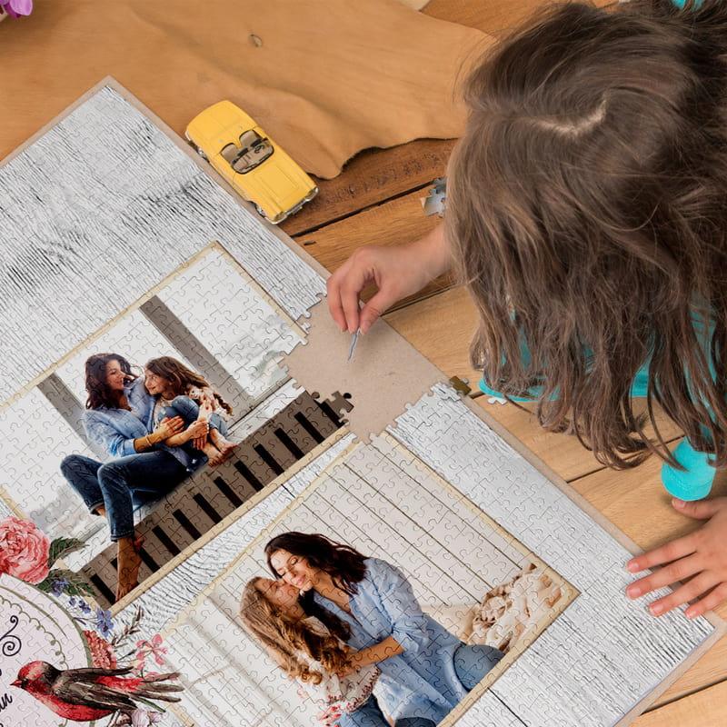 Anneye Hediye Kişiye Özel Kutulu 2000 Parça Puzzle