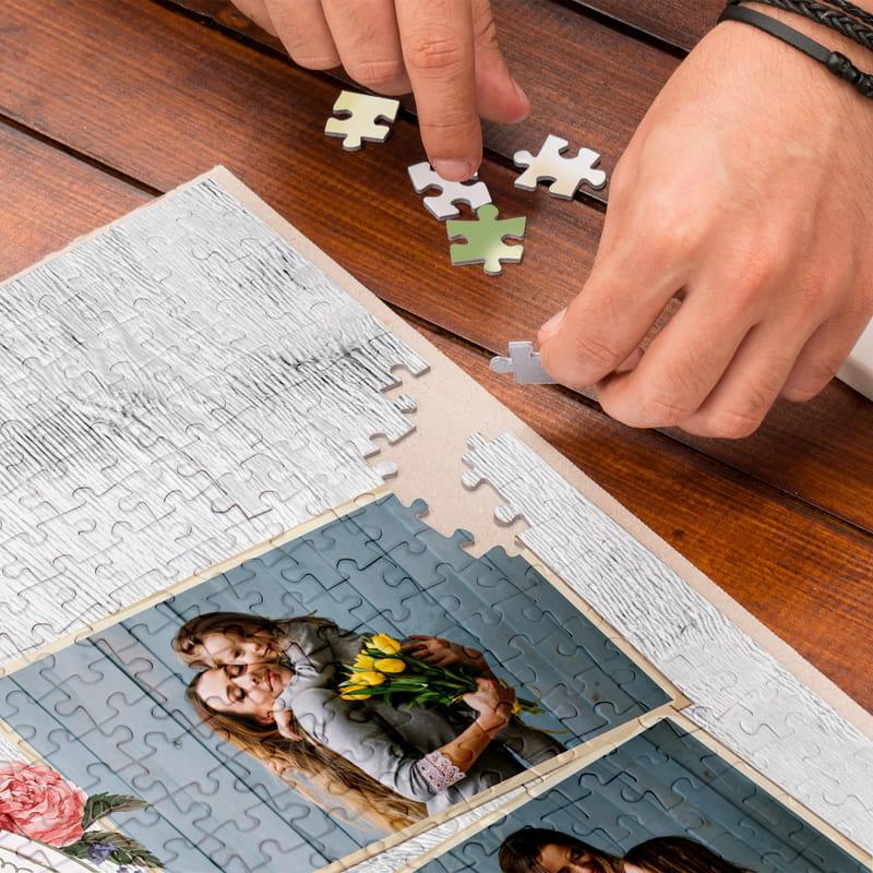 Anneye Hediye Kişiye Özel Kutulu 500 Parça Puzzle