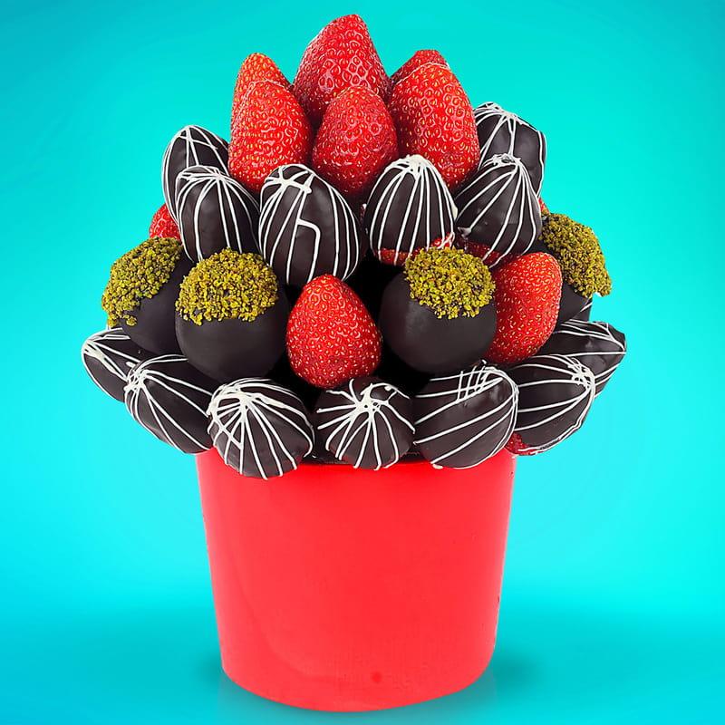 Aşk Masalı Meyve Çikolata Sepeti