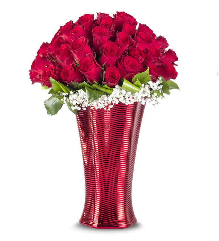 Aşkın Büyüsü 50 Kırmızı Gül Aranjmanı