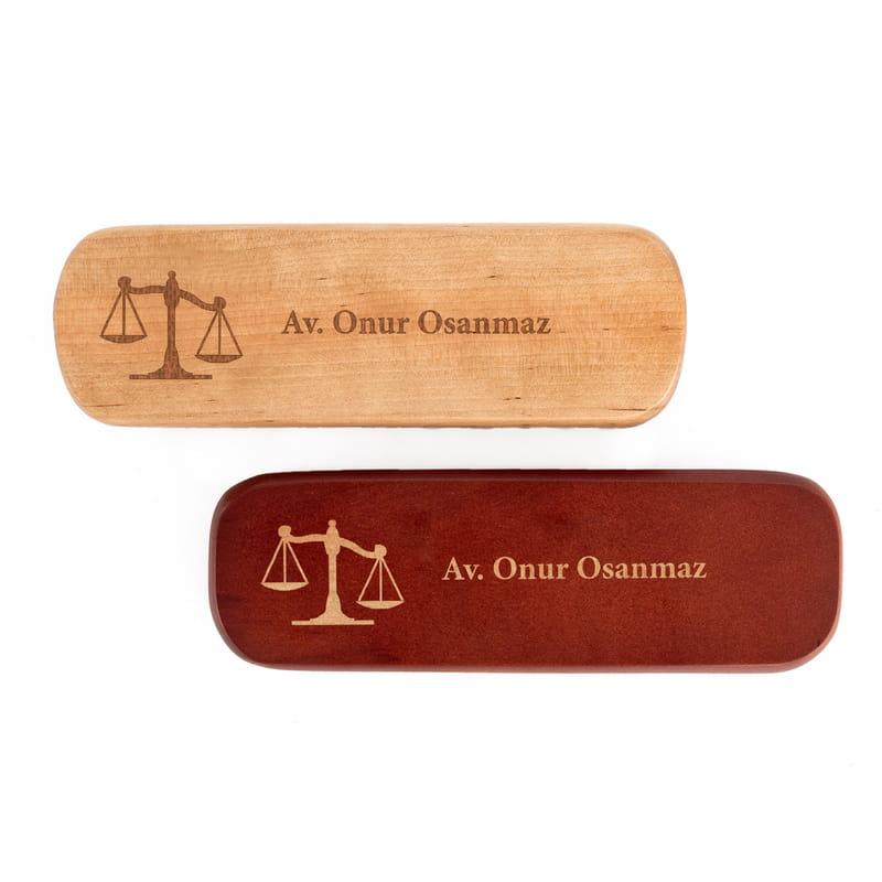 Avukatlara Kişiye Özel Ahşap Kutulu Kalem