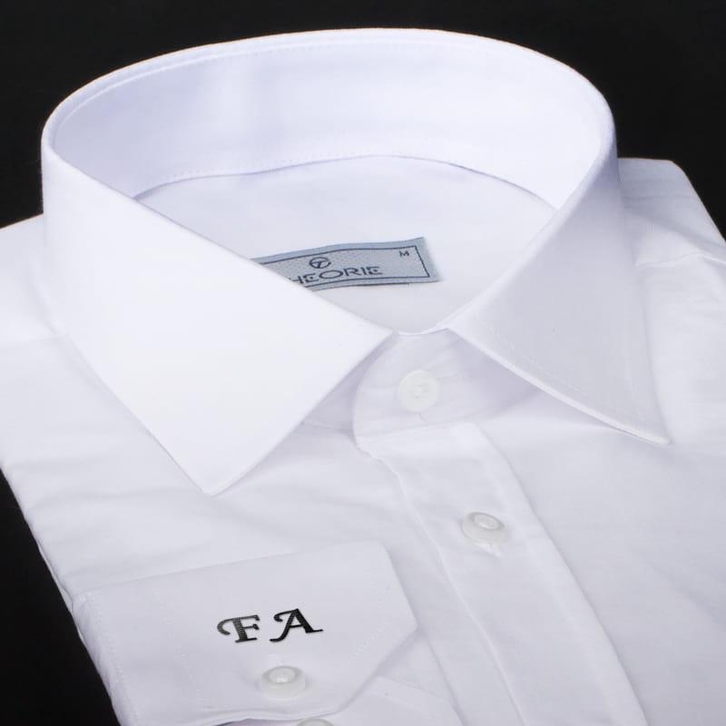 Babalar Günü Hediyesi Bıyık Baş Harf Nakışlı Gömlek