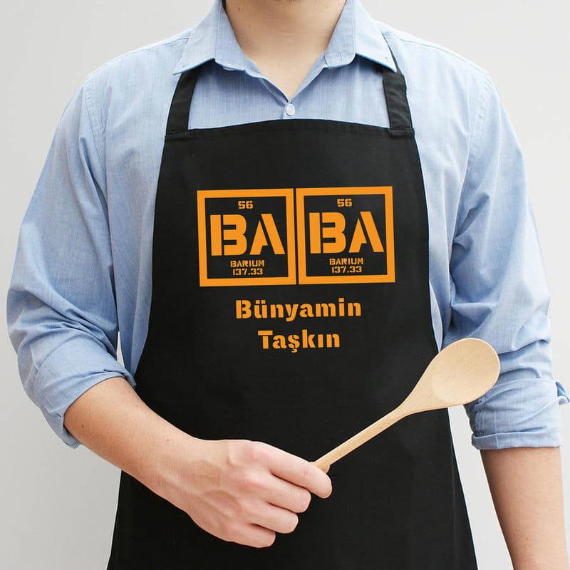 Babaya Hediye Element Esprili Mutfak Önlüğü