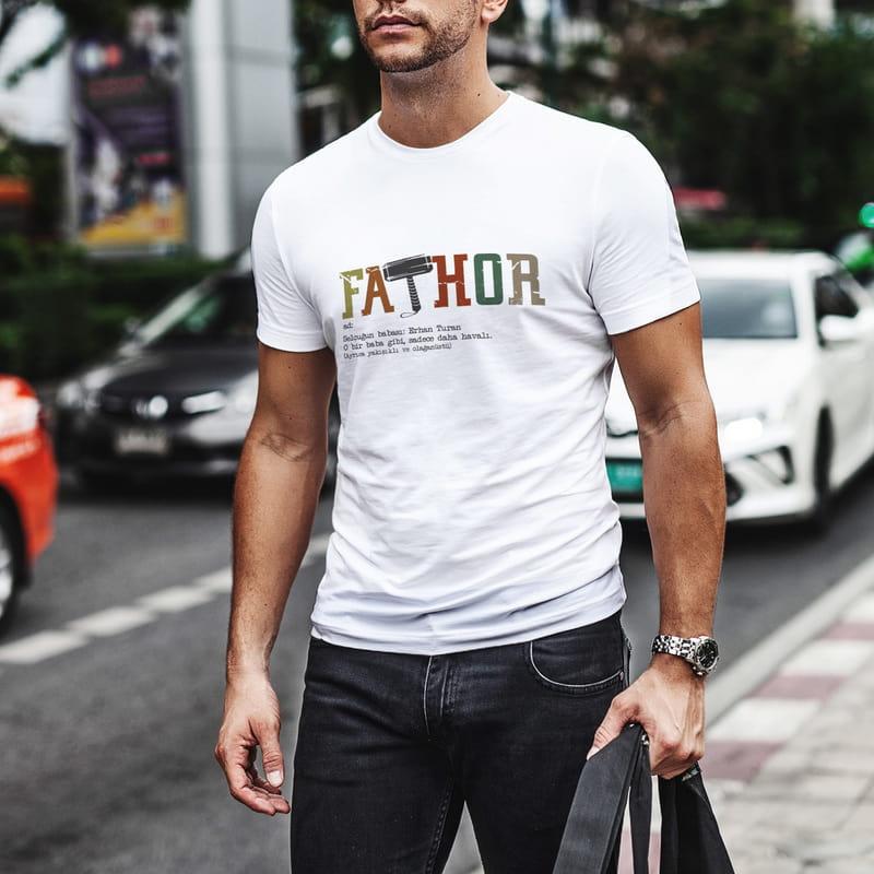 Babaya Hediye Esprili Kişiye Özel Baskılı Tişört