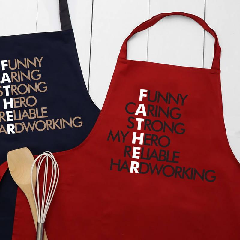 Babaya Hediye Minimal Tasarımlı Mutfak Önlüğü