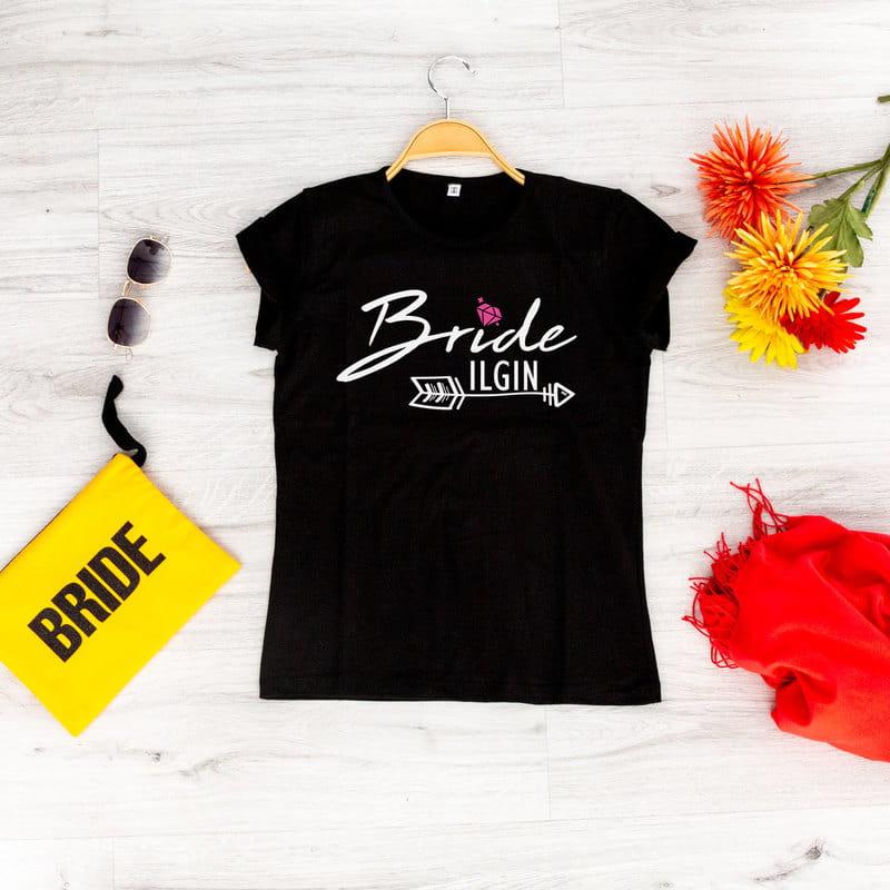 Bride - Bridesmaid   3 lü Gelin ve Nedime Tişörtü Kişiye Özel