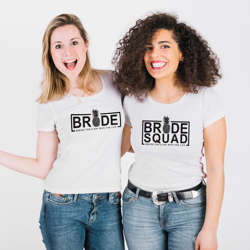 Bride - Bridesmaid | Gelin ve Nedime 3 lü Tişört Kombini