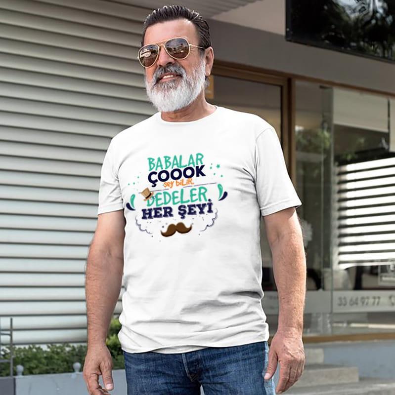 Dedelere Özel Babalar günü Hediyesi Tişört
