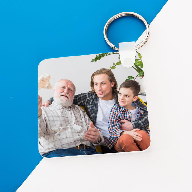 Dedeye Babalar Günü Hediyesi Fotoğraf Baskılı Anahtarlık
