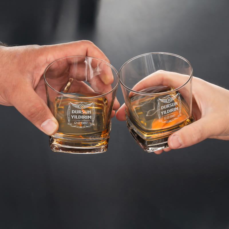 Doğum Günü Hediyesi Texas 2li Viski Kadeh Seti