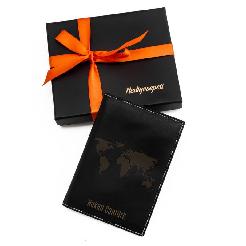 Dünya Tasarımlı Deri Pasaportluk