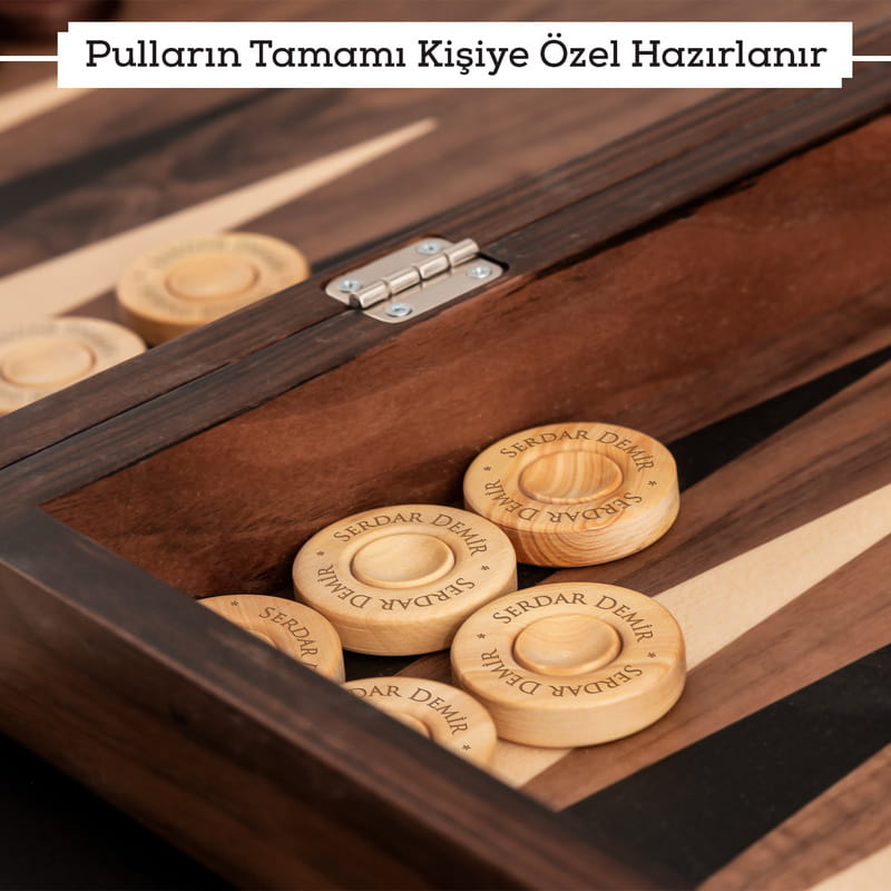 Fatih Sultan Mehmet Tuğralı Ceviz Tavla