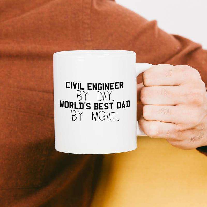 İnşaat Mühendisi Babalara Hediye Kupa