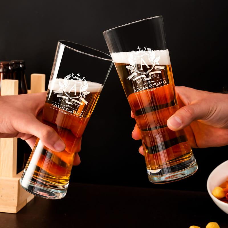 Baş Harf Logolu Bira Bardağı