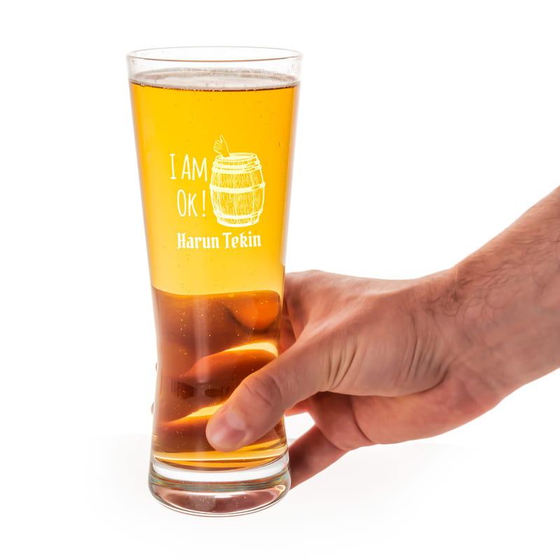 İsme Özel Espirili Prag Bira Bardağı