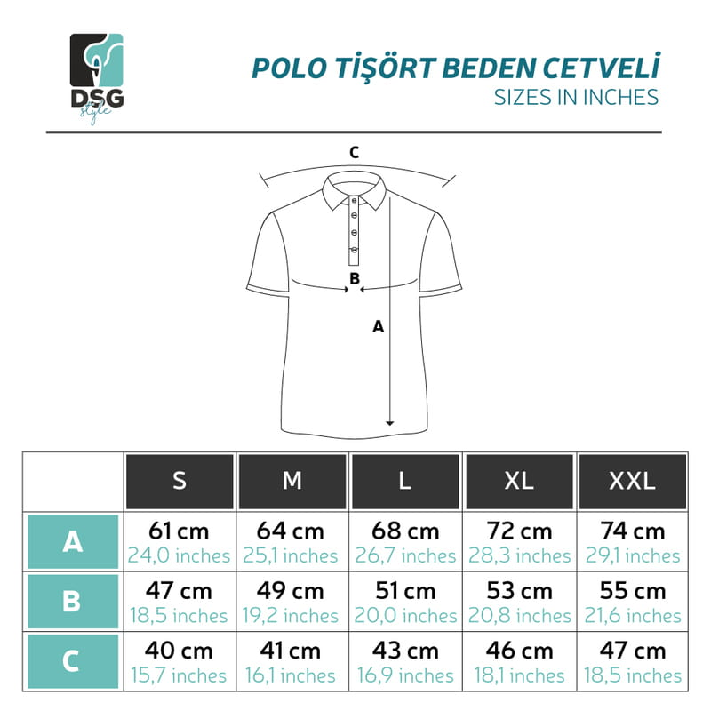 İsme Özel Harf Nakış İşlemeli Polo Yaka Tişört