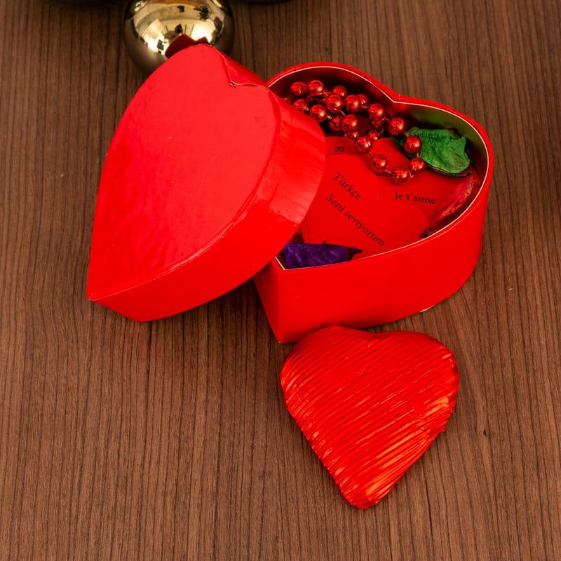 Kalp Kutulu 100 Dilde Seni Seviyorum Mesaj Kartları