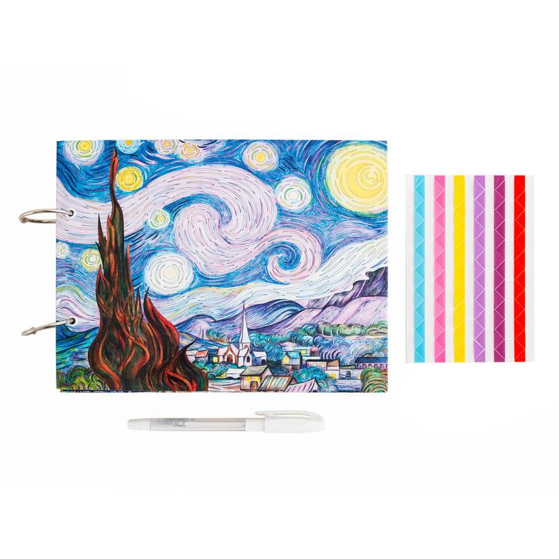 Van Gogh Yıldızlı Geceler Tasarımlı Fotoğraf Albümü