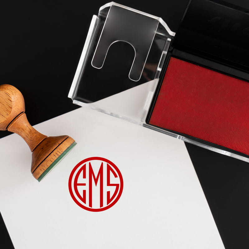 Kişiye Özel Monogram Logo Tasarımlı Kitap Mühür Seti