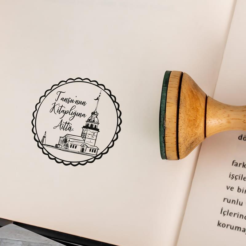Kız Kulesi Tasarımlı Kişiye Özel Kitap Mührü