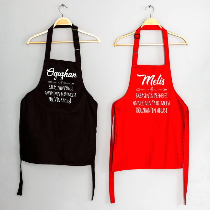 Küçük Aşçılara Kişiye Özel Çocuk Mutfak Önlüğü