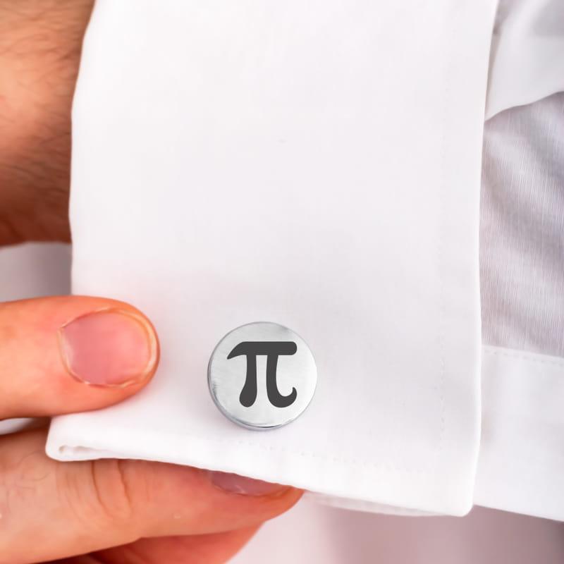 Matematik Öğretmenine Hediye Baş Harf Yazılı Kol Düğmesi