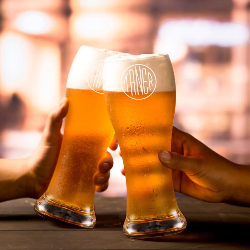 Monogram Tasarımlı Berlin Bira Bardağı