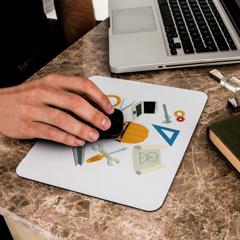 Mühendis Arkadaşa Hediye İsme Özel Mouse Pad