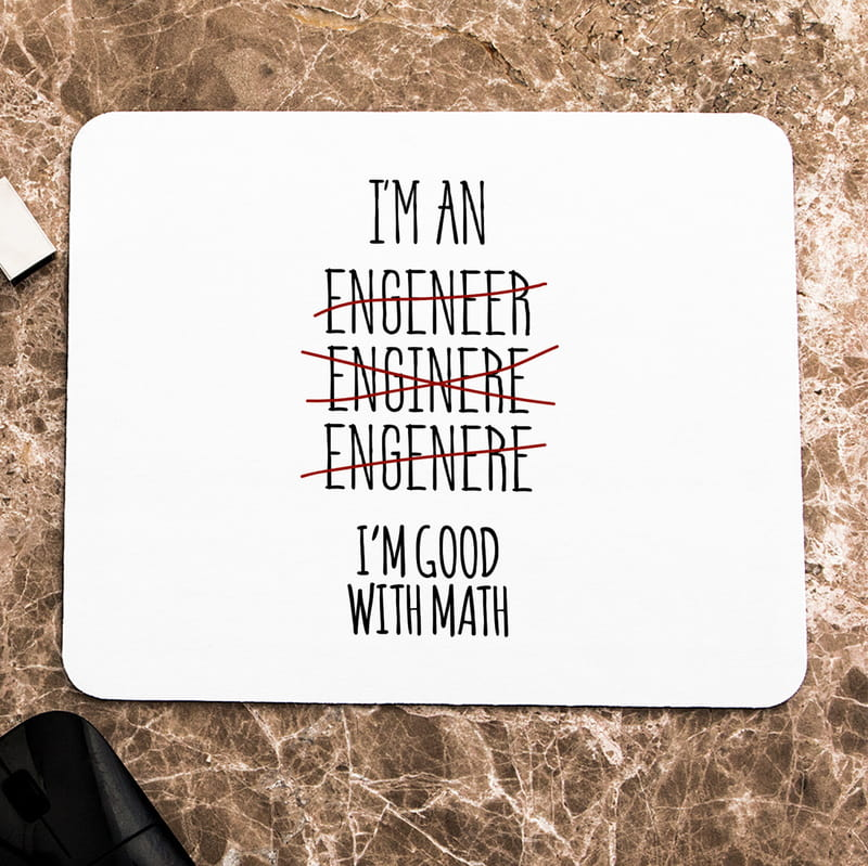 Mühendis Sevgiliye Hediye Mousepad