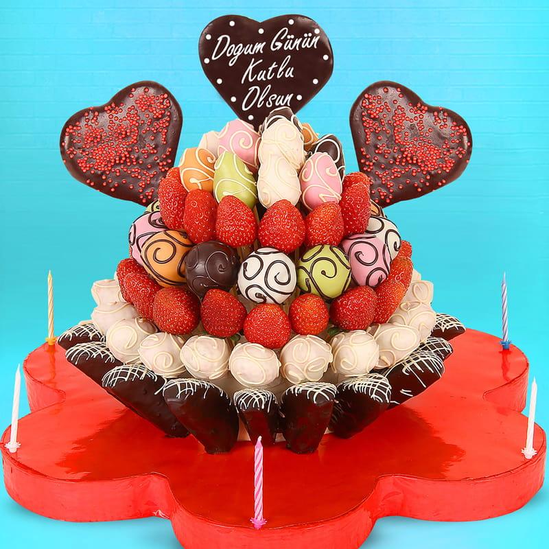 Mutlu Yıllar Doğum Günü Meyve Sepeti