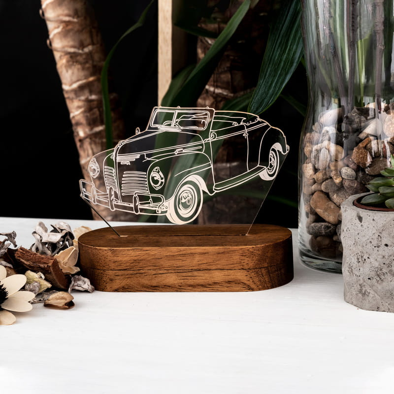 Nostaljik Araba Tasarımlı 3D Led Lamba