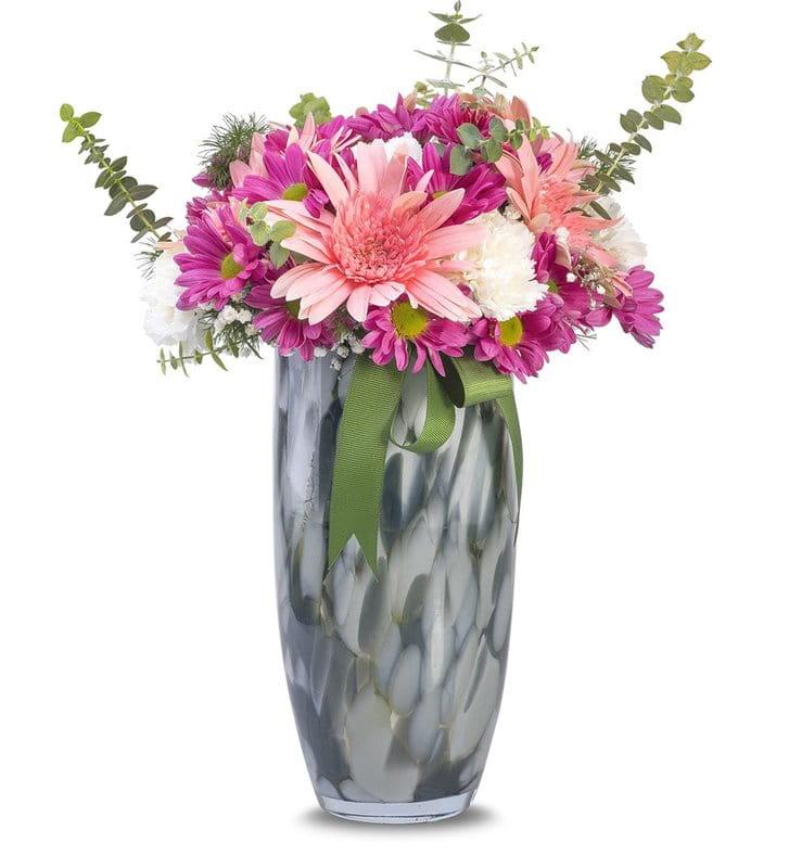 Pembe Çiçeklerin Büyüsü Aranjmanı