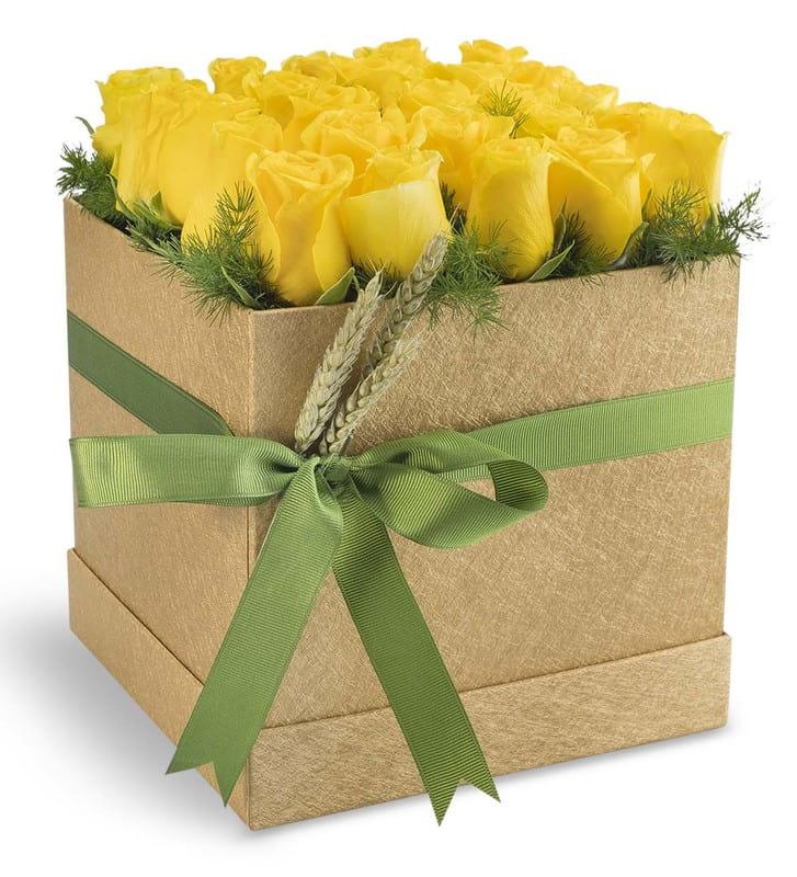 Gold Kutuda 25 Sarı Güller