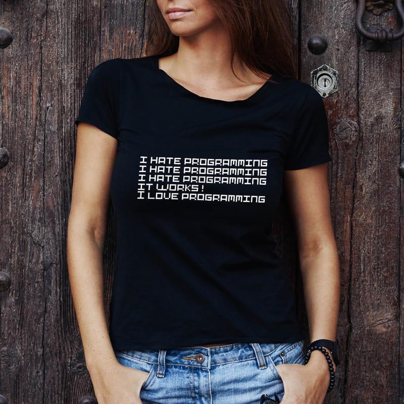 Programcılara Hediye Esprili Baskılı Tişört