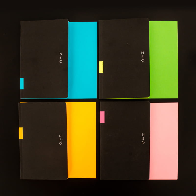 Renkli Sayfalı Çizgili Not Defteri