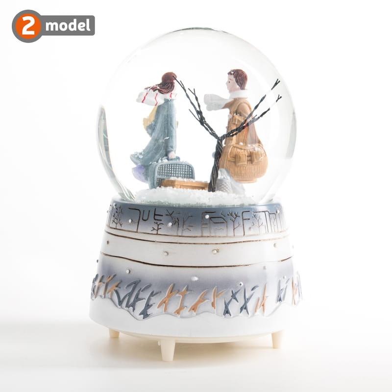 Sevgiliye Hediye Müzikli Kar Küresi