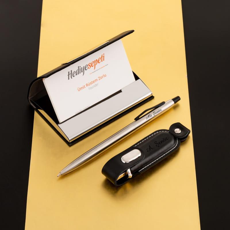 USB Kalem Kartvizitlik Seti