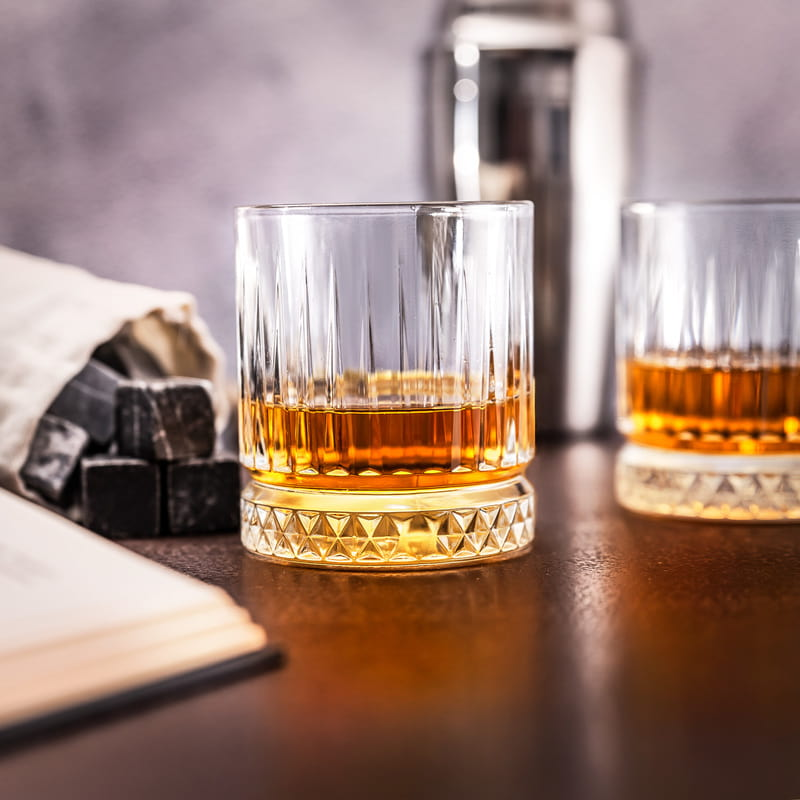 Ahşap Kutulu Glasgow 2 li Viski Kadeh Seti