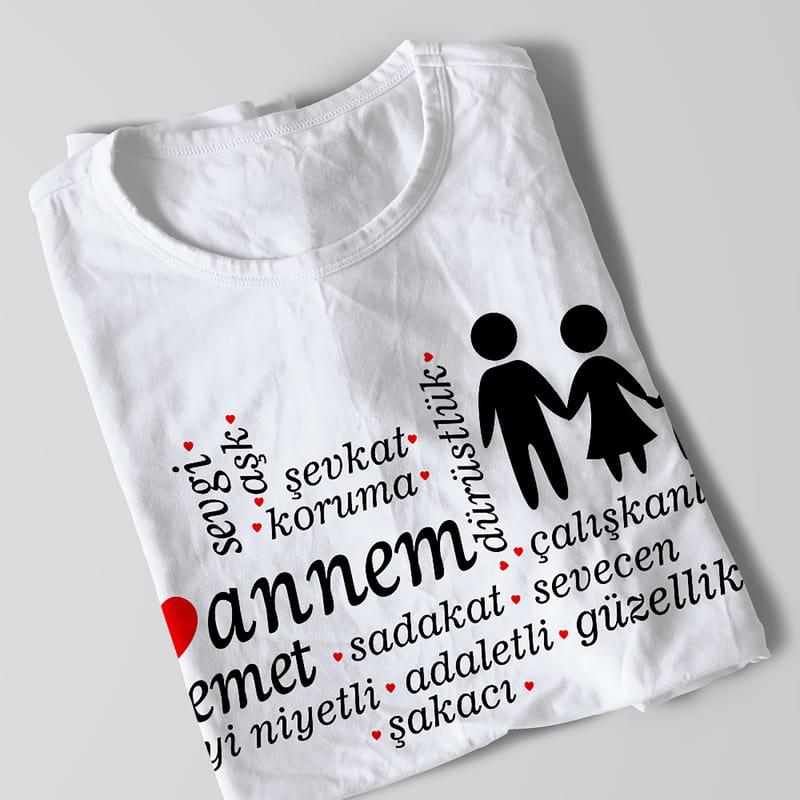 Ailenize Özel Mesajlı 3 lü Aile Tişörtü