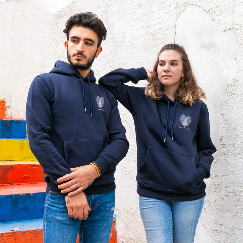 Aşkımızın Parmak İzi Kapşonlu Sweatshirt Kombini