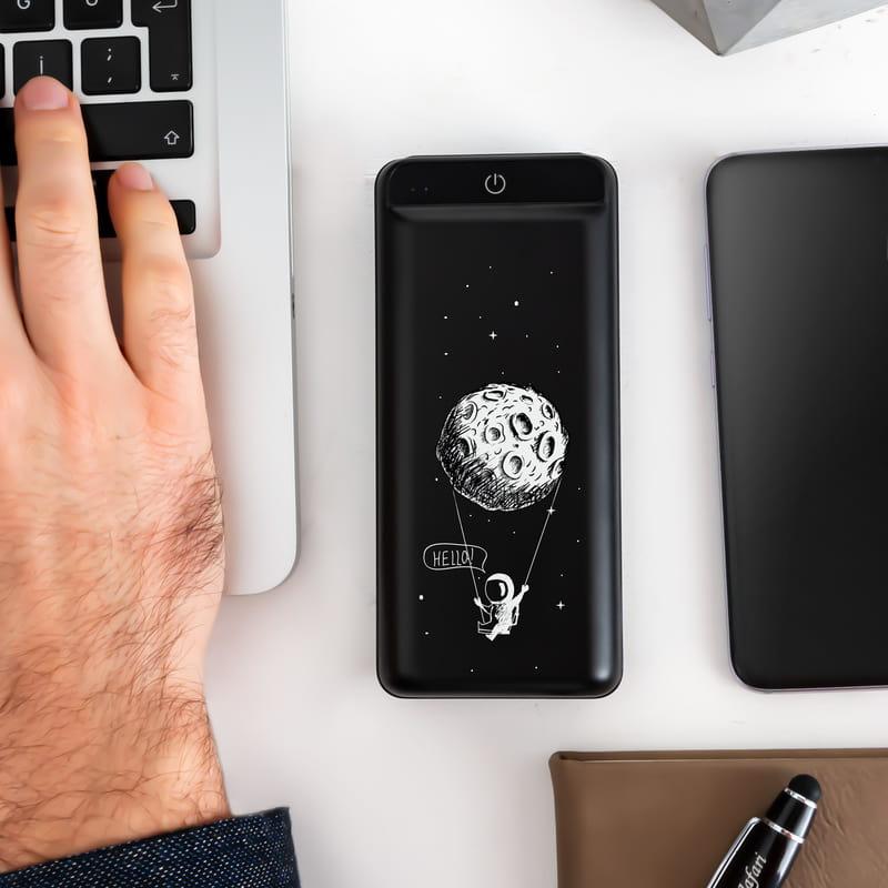 Astronot Tasarımlı 16.000 mAh Wireless Kablosuz Hızlı Şarj