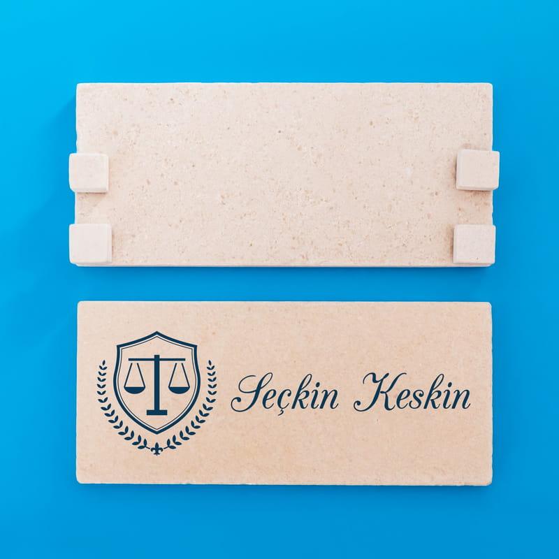 Avukata Özel Taş İsimlik